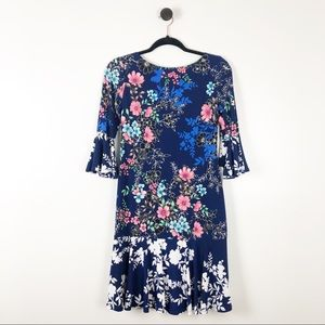 NWT Eliza J Floral Bell Sleeve Dress
